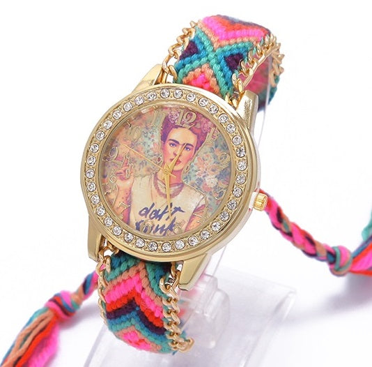 Frida Kahlo Handmade Rose Watch