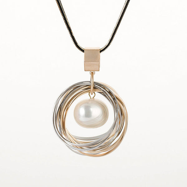 Pearl Multi-Layer Plating Necklace