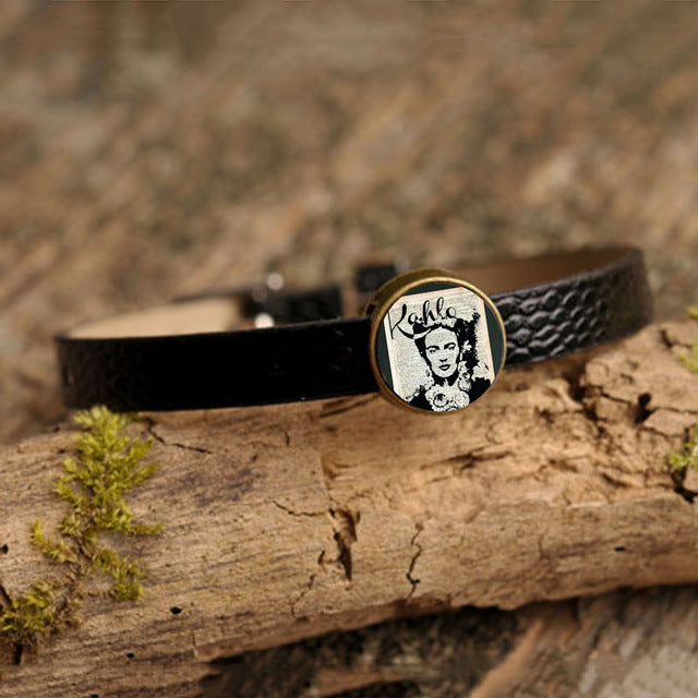 Frida Kahlo Leather Bracelet