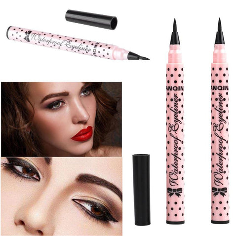 2PC Eyeliner Pen Makeup Cosmetic Black Pink Liquid Eye Liner Pencil Make Up Tool
