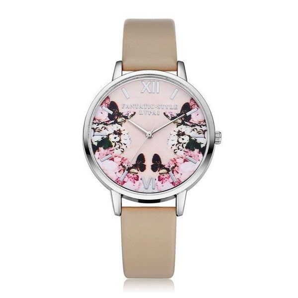 Luxury Flower Leather Watch