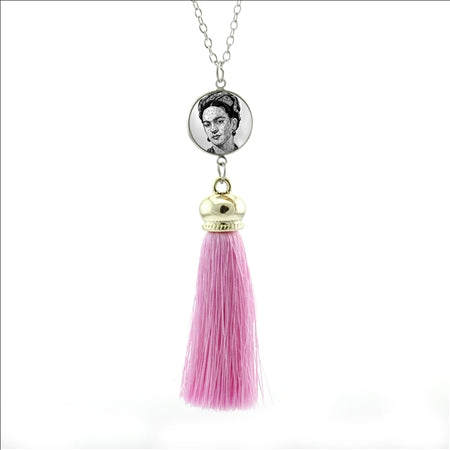 Frida Kahlo Long Tassel Necklace