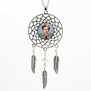 Frida Kahlo Dream Catcher Necklace