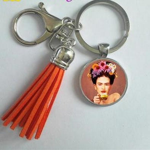 Frida Kahlo Tassel Key Chain