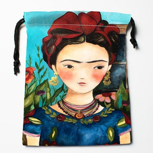 Frida Kahlo Drawstring Bag