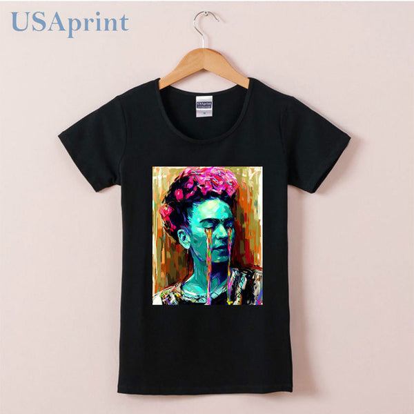 Frida Kahlo Oil Paintings T Shirts