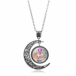 Crescent Moon Frida Kahlo Necklace