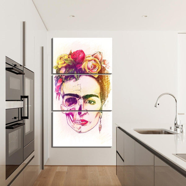 Frida Kahlo Wall Art 3 Piece Canvas