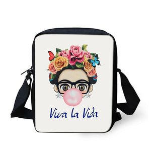 Frida Kahlo Viva La Vida Crossbody Bag
