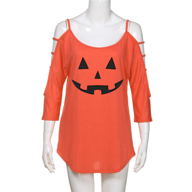 Halloween Blouse Orange
