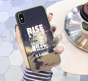 Rise & Shine Find Your Greatness No Pain No Gain Winning Is A Habit Phone Case