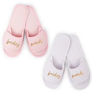 Bridal Party and Bride Slippers - Lucky Maiden