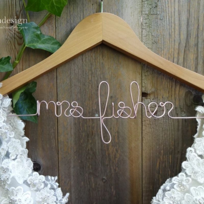 Personalized Bridal Party Hanger