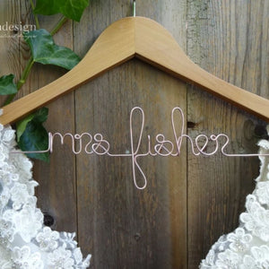 Personalized Bridal Party Hanger - Lucky Maiden