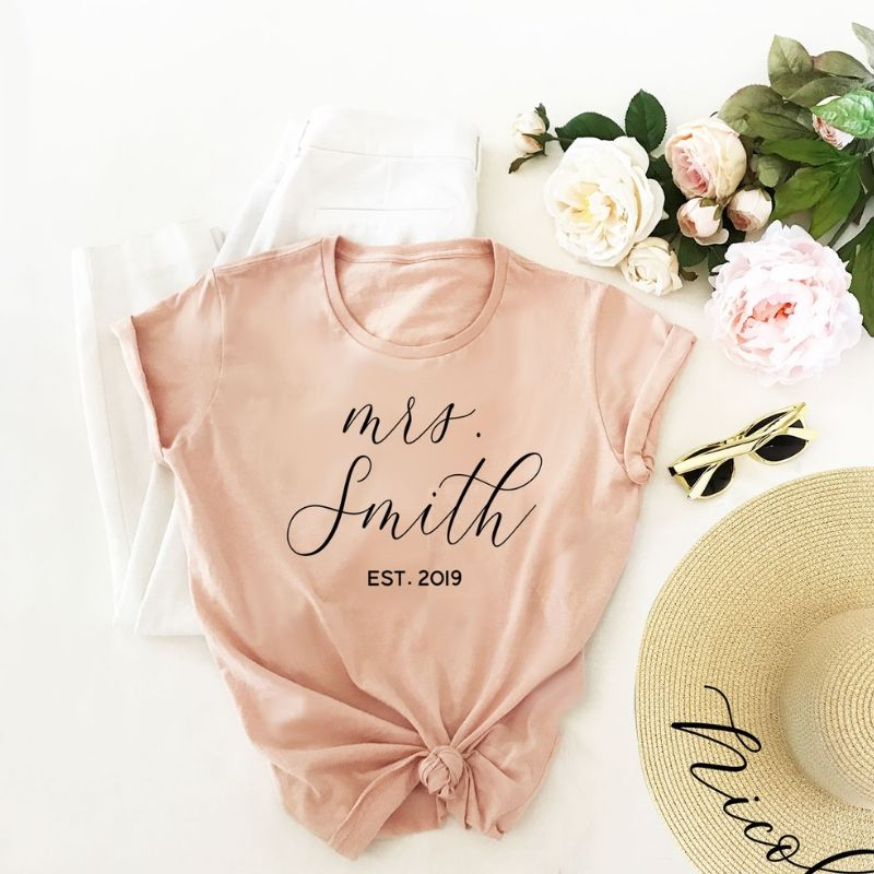 Soft Blush Bridal Tee Shirt - Lucky Maiden