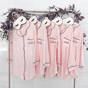 Personalized Bridesmaid Sleep Shirt - Lucky Maiden