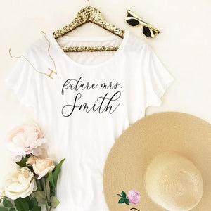 Loose Fit T Shirt for Bride - Lucky Maiden