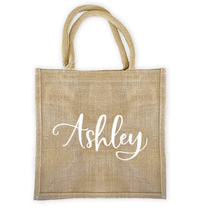 Custom Burlap Tote Bag - Lucky Maiden