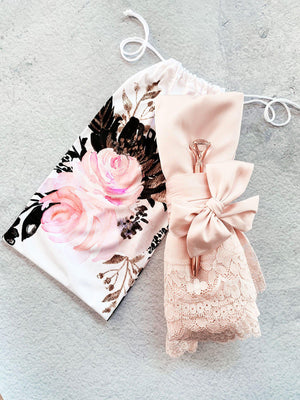Floral Wedding Robe Pouch - Lucky Maiden