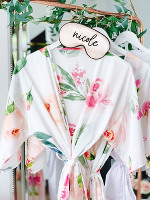 Floral Bridesmaid Robes - Lucky Maiden - Lucky Maiden