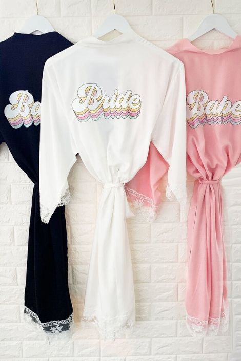 Retro Robe for Bride and Bridesmaid - Lucky Maiden