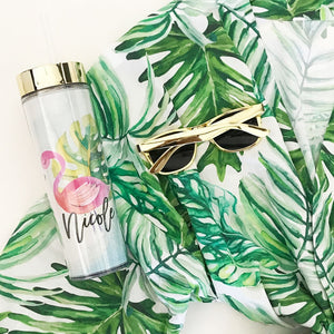 Tropical Beach Tumbler with Straw - Lucky Maiden