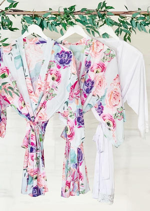 Floral Bridal Party Robes - Lucky Maiden