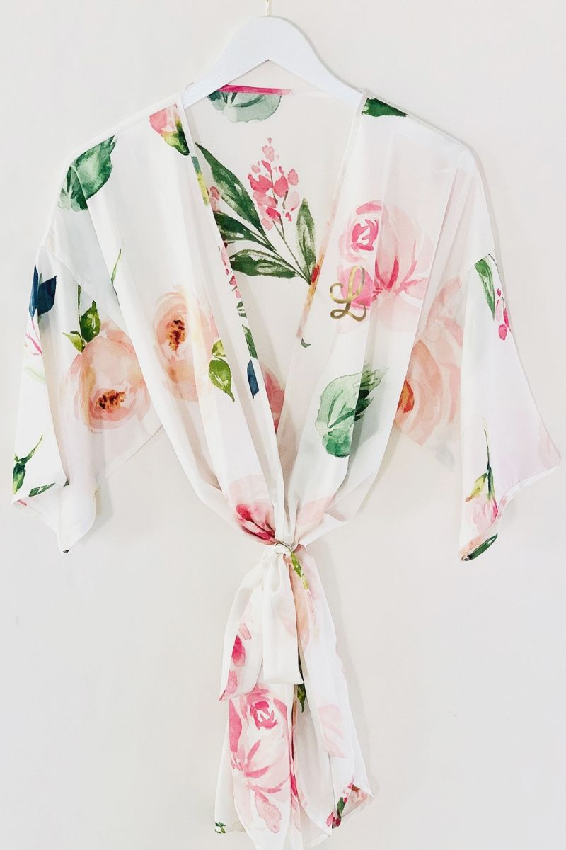 Spring Rose Bridal Party Robes - Lucky Maiden