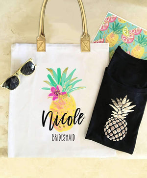 Tropical Theme Beach Tote Bag - Lucky Maiden