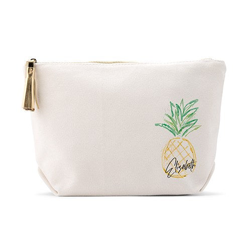 Tropical Theme Canvas Makeup Bag - Lucky Maiden