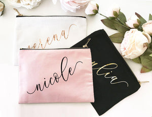Personalized Canvas Makeup Bag - Lucky Maiden