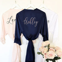 Bridesmaid Robes with Lace Trim