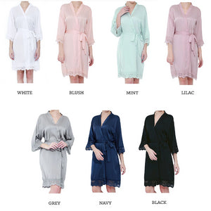 Wedding Robes for Bride and Bridal Party