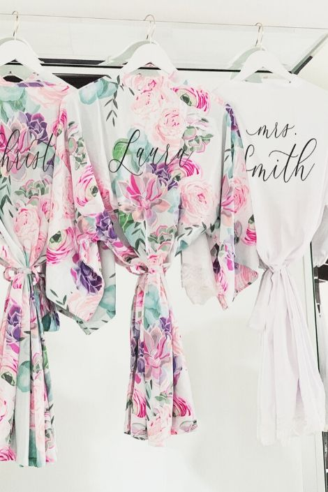 Floral Robes for Bridesmaids - Lucky Maiden