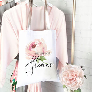 Rose Theme Bridal Party Tote - Lucky Maiden