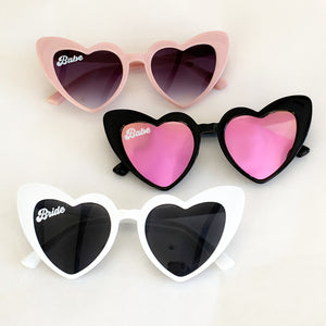 Heart Shaped Bride Sunglasses - Lucky Maiden