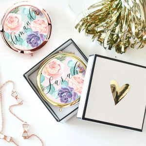 Succulent Theme Compact with Mirror - Lucky Maiden