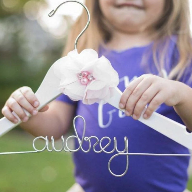 Custom Flower Girl Hanger - Lucky Maiden