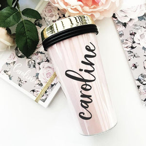 Custom Tumbler with Lid - Lucky Maiden