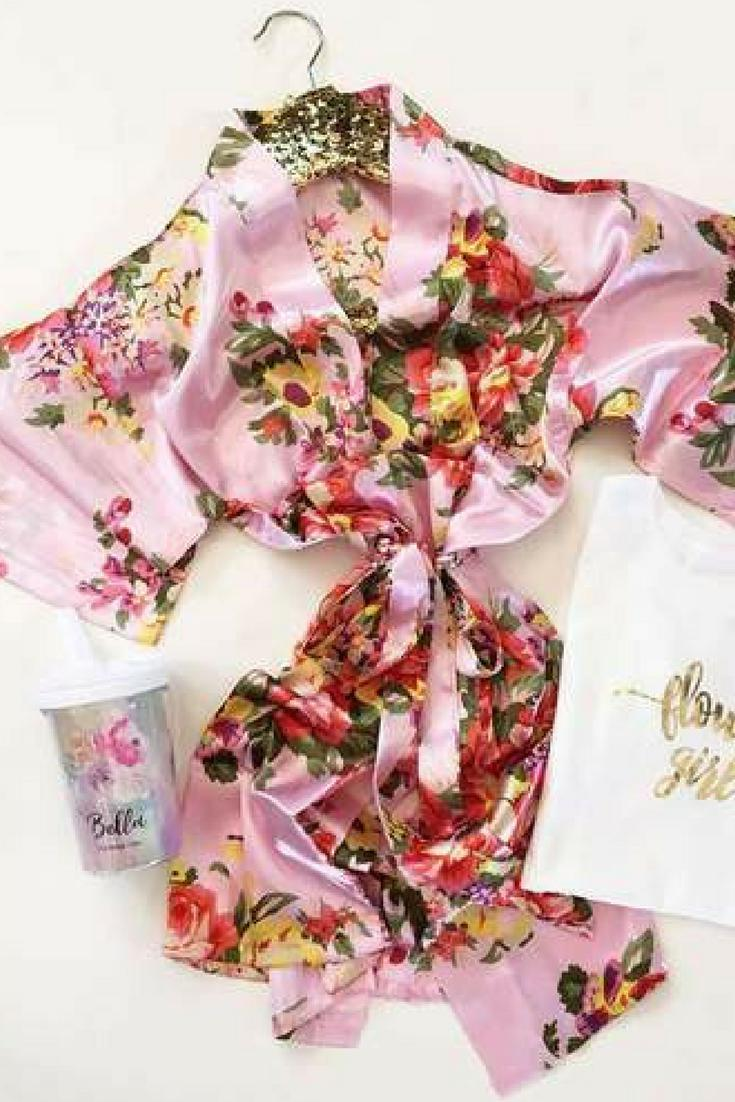 Flower Girl Robe in Floral Print
