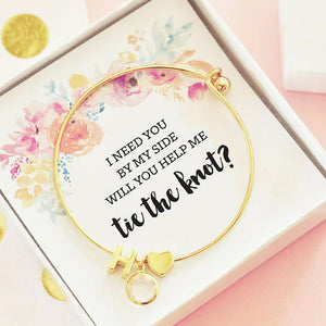 Gold Monogram Bracelet For Bridal Party - Lucky Maiden