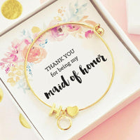 Gold Monogram Bracelet For Bridal Party