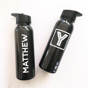 Groomsmen Monogram Sports Bottle - Lucky Maiden
