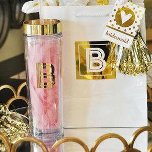 Monogram Tumbler with Gold Trim