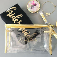 bridesmaid makeup bag gifts