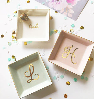 Personalized Ring Dish For Bridesmaid and Bridal Party - Lucky Maiden