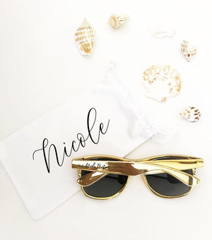 Personalized Sunglasses Pouch for Bridesmaid - Lucky Maiden