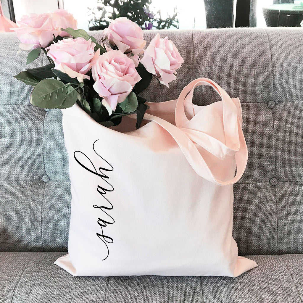 Personalized Canvas Tote Bag for Bridal Party - Lucky Maiden