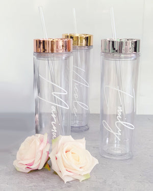 Personalized Bridesmaid Tumblers - Lucky Maiden