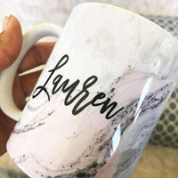Pink Marble Bridal Party Coffee Mug